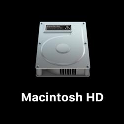 MacのデスクトップにHDDを表示する