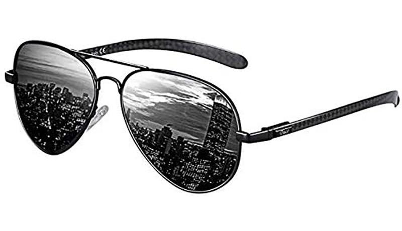 DUCO メンズ サングラス UV400 偏光サングラス アビエーター ティアドロップ サングラス 高品質ガラス 釣り 運転用 3025K