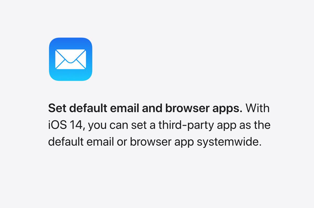 iOS 14ではiPhoneの「メールとSafariを別のアプリに代えられる」カスタマイズ機能を搭載