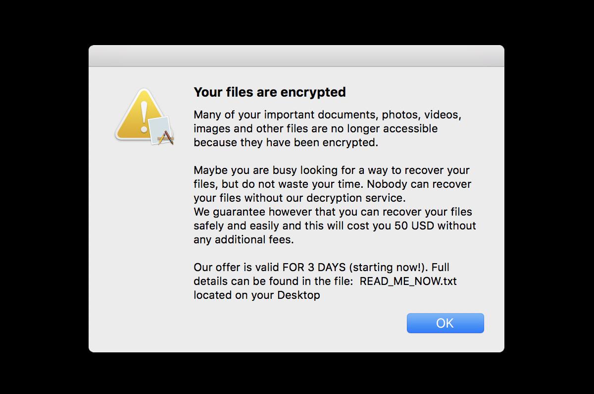 Macの「海賊版アプリに身代金要求のランサムウェア」が仕込まれて拡大中