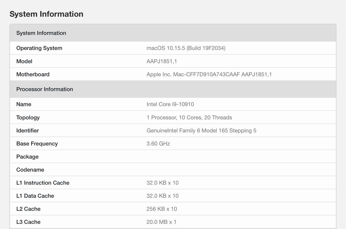 次期Apple iMacか?「特注10コアのインテルCore i9」に「未発表AMD Radeon Pro 5300」を搭載したベンチ結果を発見