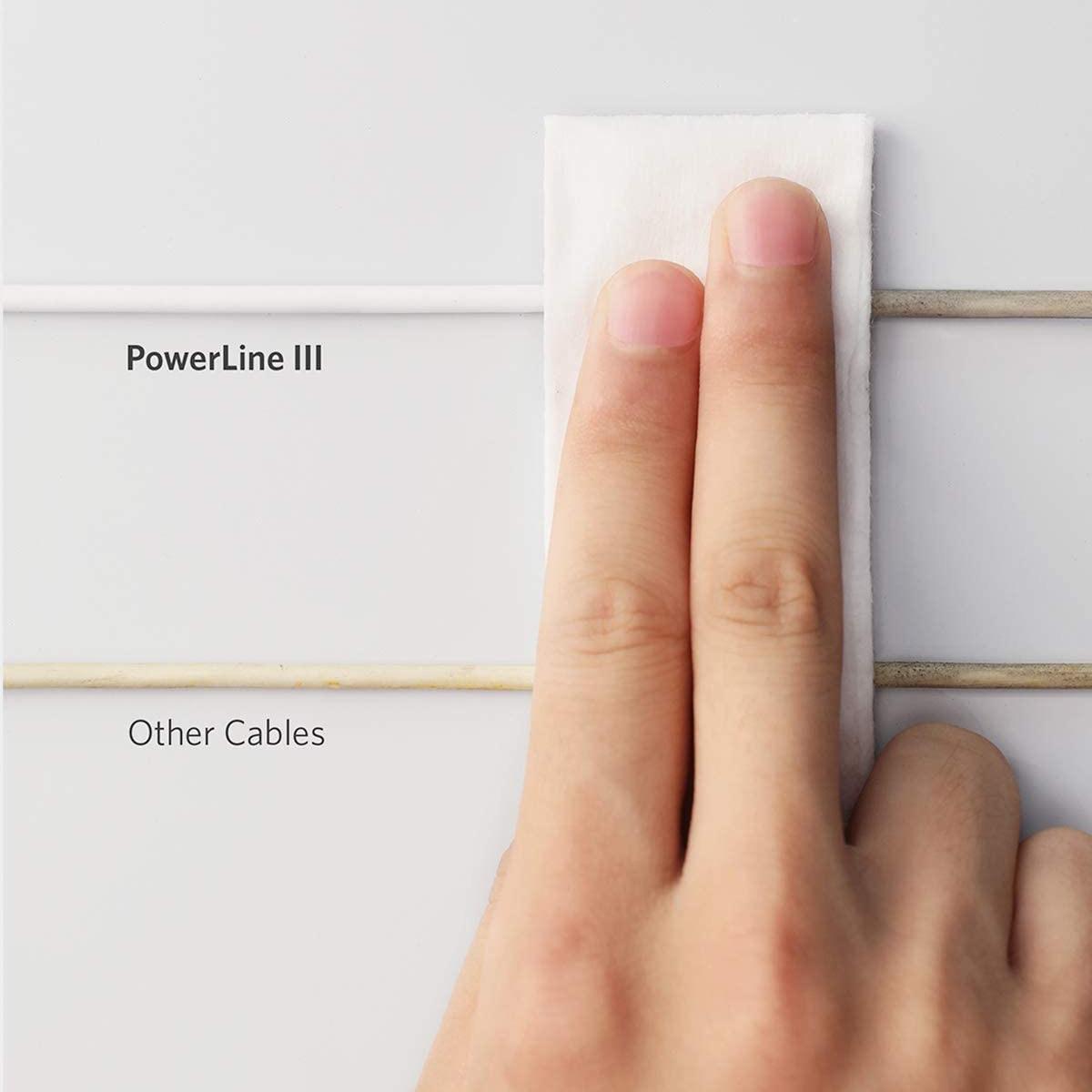 シンプルな見た目に、超高耐久25,000回の試験クリア Anker PowerLine III USB-C & ライトニング ケーブル