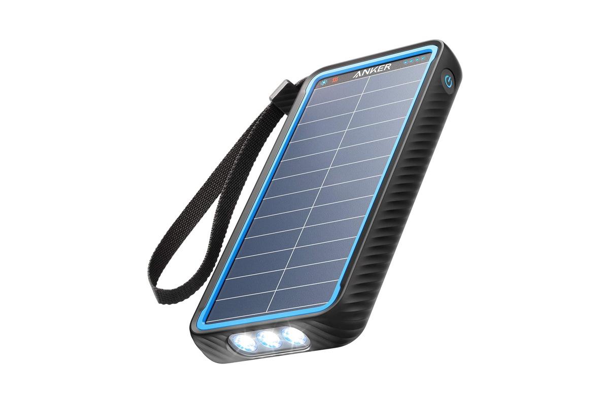防水LEDライト付き大容量 Anker PowerCore Solar 10000 (ソーラーモバイルバッテリー 10000mAh 大容量)
