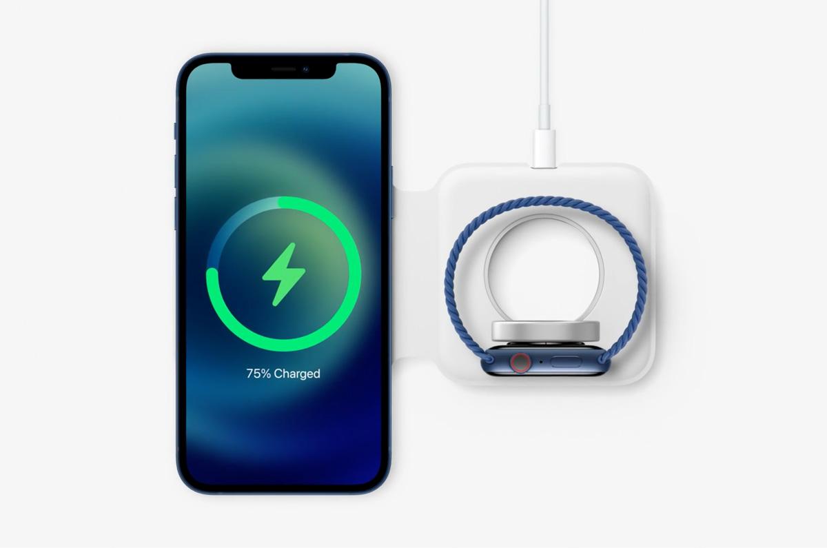 Apple、iPhone 12とApple Watchを同時充電「MagSafe Duo充電器」発売間近