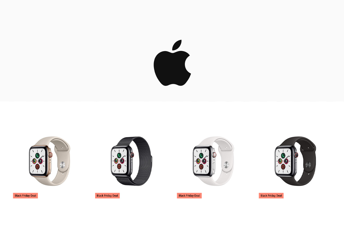 Amazon、Apple製品が最大45%OFF / Apple Watch ほぼ半額など