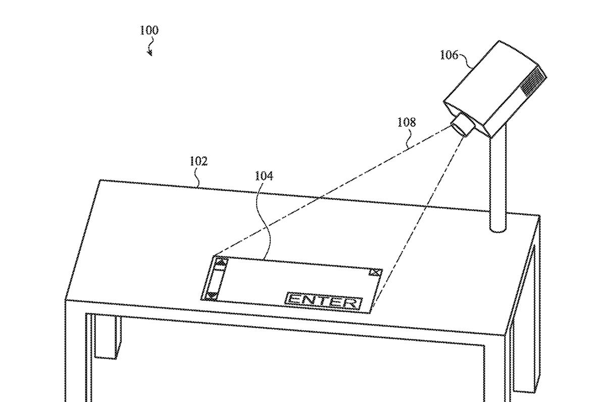Apple、プロジェクターから投影された壁が入力デバイスに 未来のSF映画のような特許