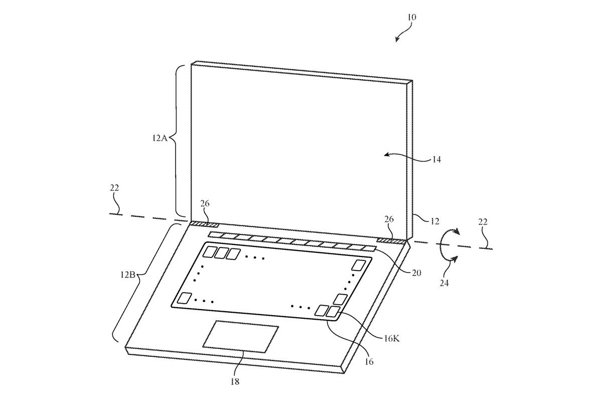 次期Mac、キーボードのキートップにディスプレイ搭載か / キーボード全面Touch Barのような特許取得