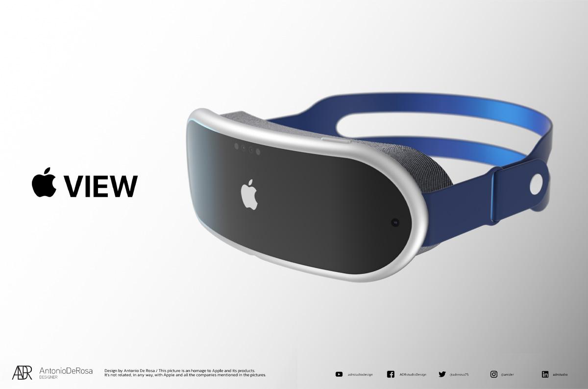 Appleのスケッチがレタリング画像に「Apple VIEW」複合現実感ヘッドセット