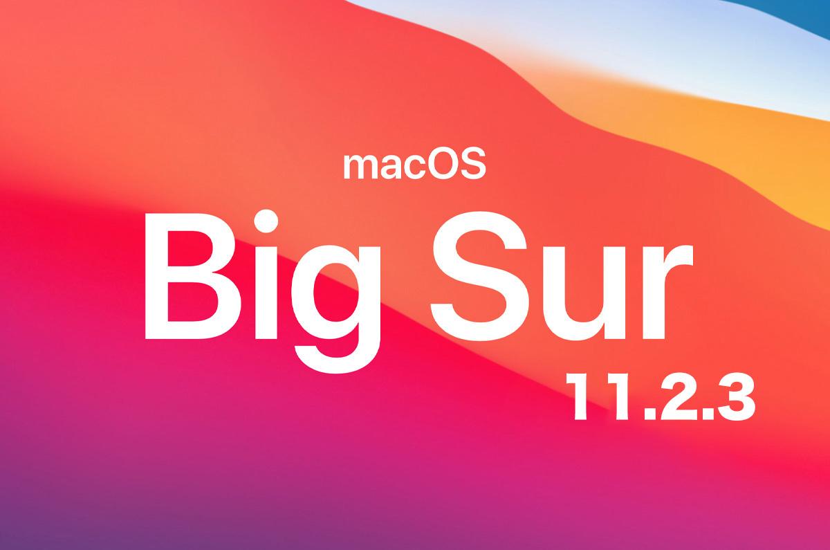 macOS Big Sur 11.2.3正式リリース「セキュリティの修正」 (所要時間:31分)