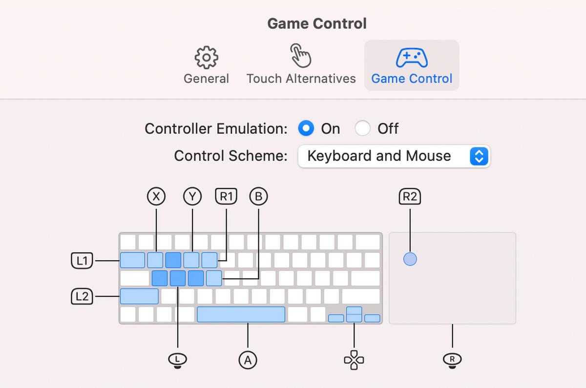 macOS Big Sur 11.3 ベータ版、キーボードがiPhoneのゲームに対応
